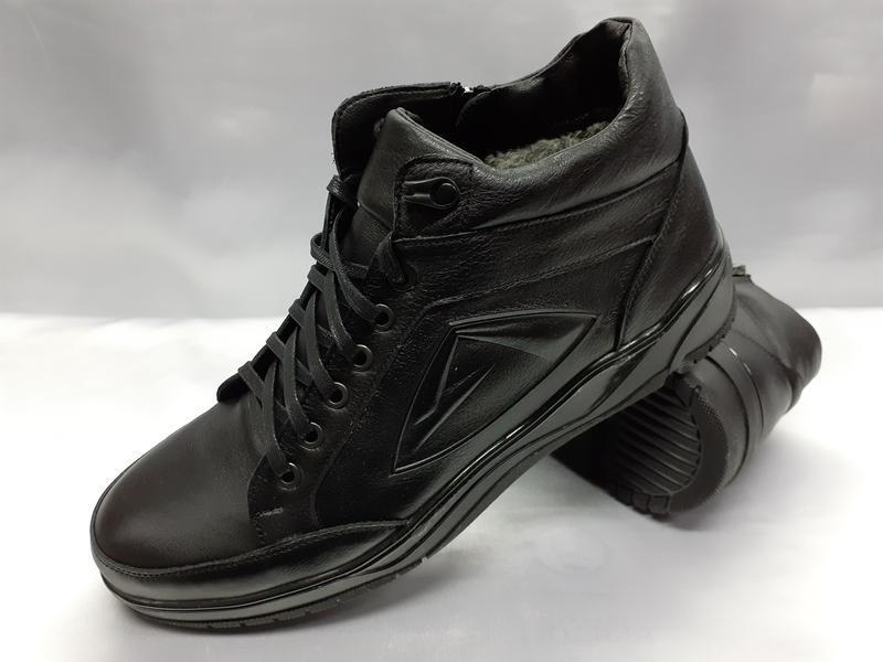 Распродаж!зимние кожаные ботинки под кроссовки на молнии madoks - Фото 4