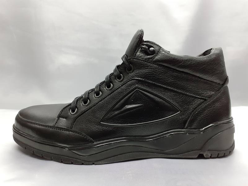 Распродаж!зимние кожаные ботинки под кроссовки на молнии madoks - Фото 5