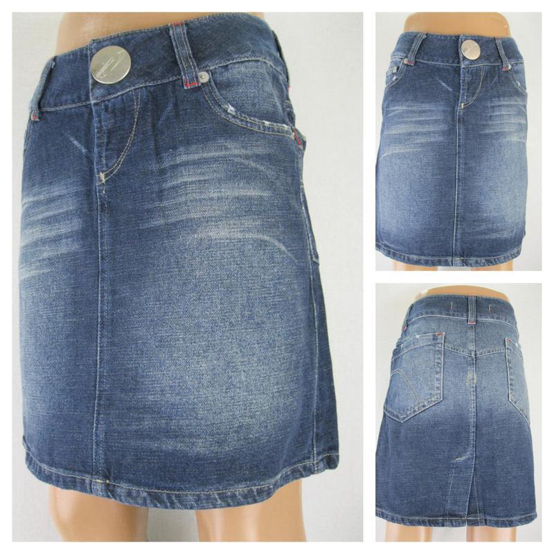 №30/14 джинсовая женская юбка в отличном состоянии  размер 27
