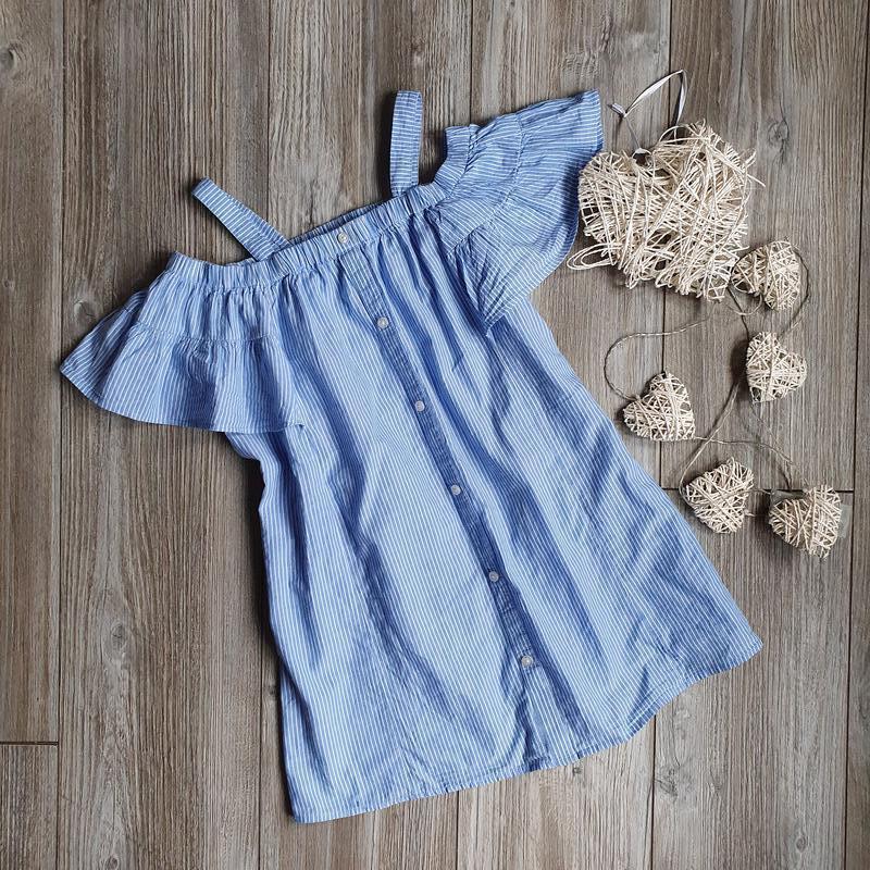 Платье сарафан с воланами m&s 6-7л