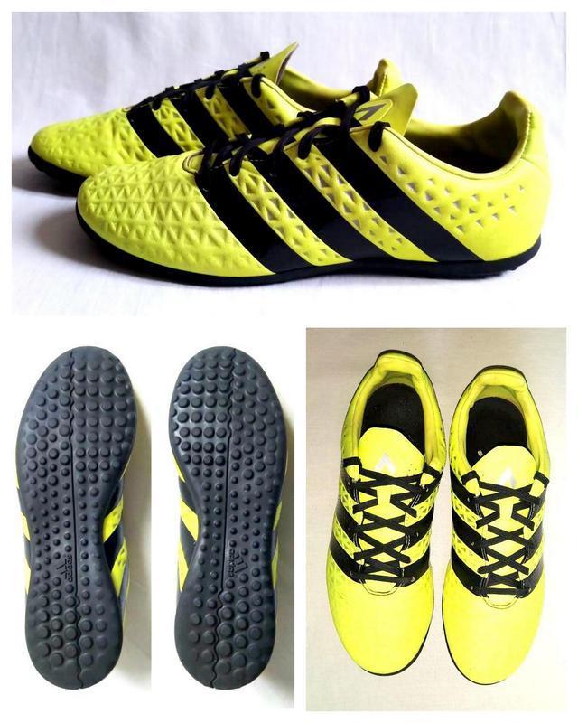 Сороконожки бутсы adidas ace 16.3 tf. размер 38