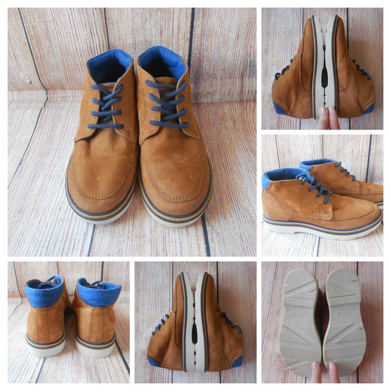 N2985    zara кожаные ботинки на мальчика   19,5см-30р