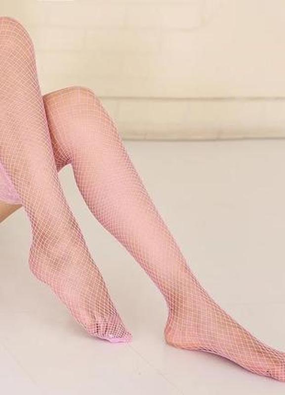 💞колготки сеточка средняя capelli new york розовая