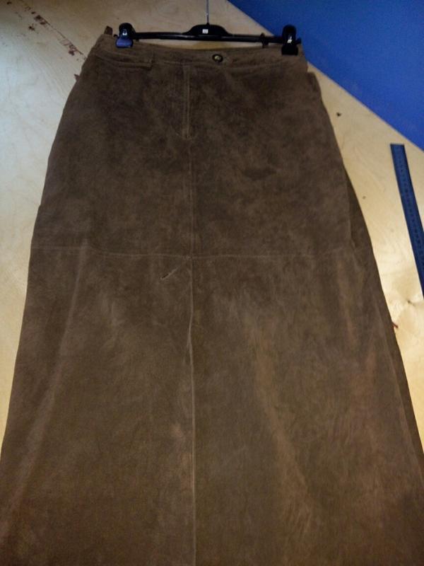 Замшевая юбка миди