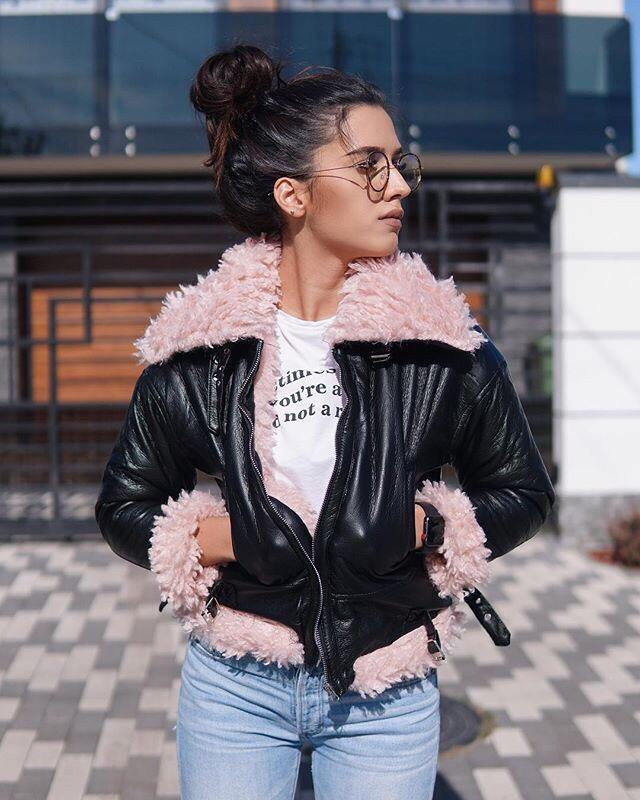 ✅ демисезонная куртка дублёнка авиатор с мехом разные размеры