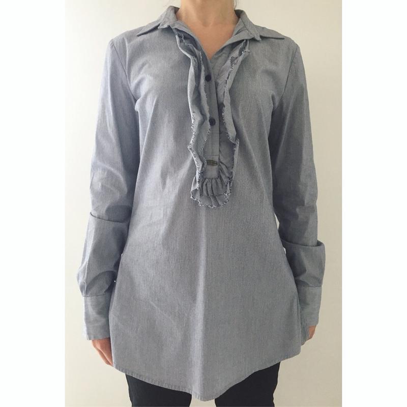 Длинная рубашка, довга, сіра.