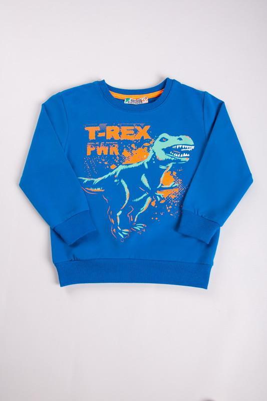 Джемпер свитшот реглан дино динозавры для мальчика