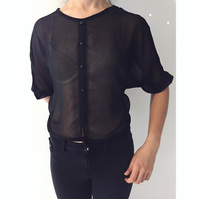 Чорна блуза, черная блуза.