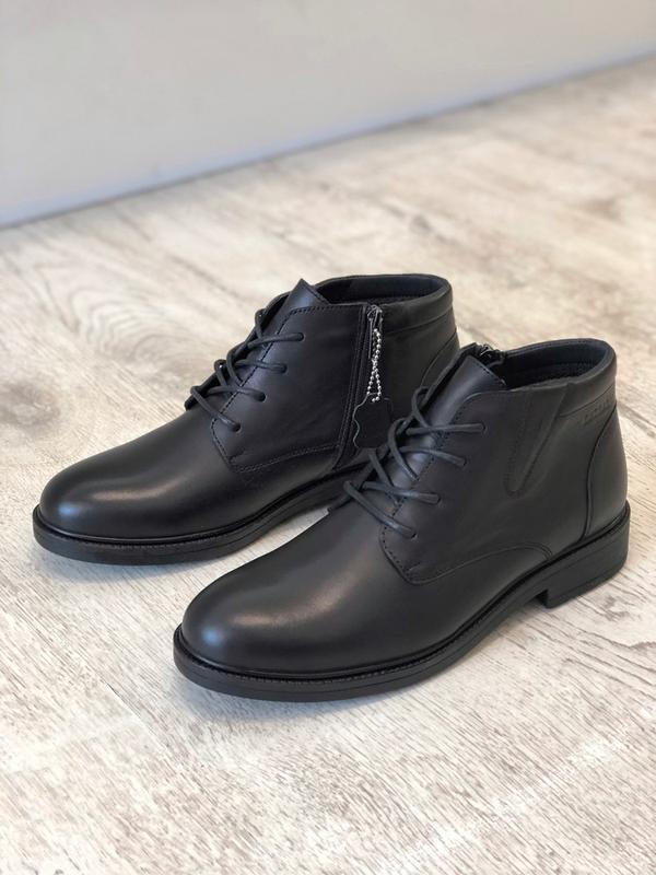 Мужские классические зимние кожаные ботинки