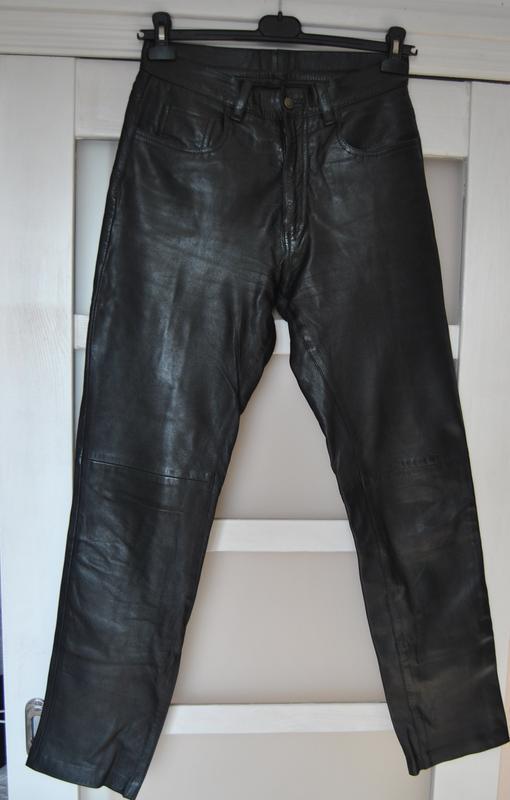 Кожаные брюки штаны max  унисекс / шкіряні штани