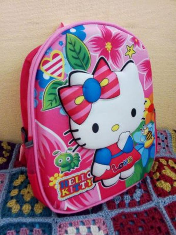 Рюкзак 3D для девочки Hello Kitty Китти, ортопедическая спинка
