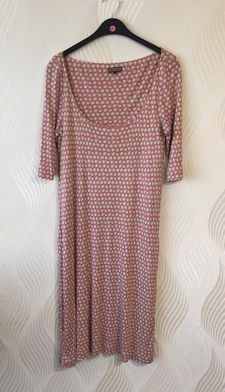 Стильное платье в горошек maliparmi