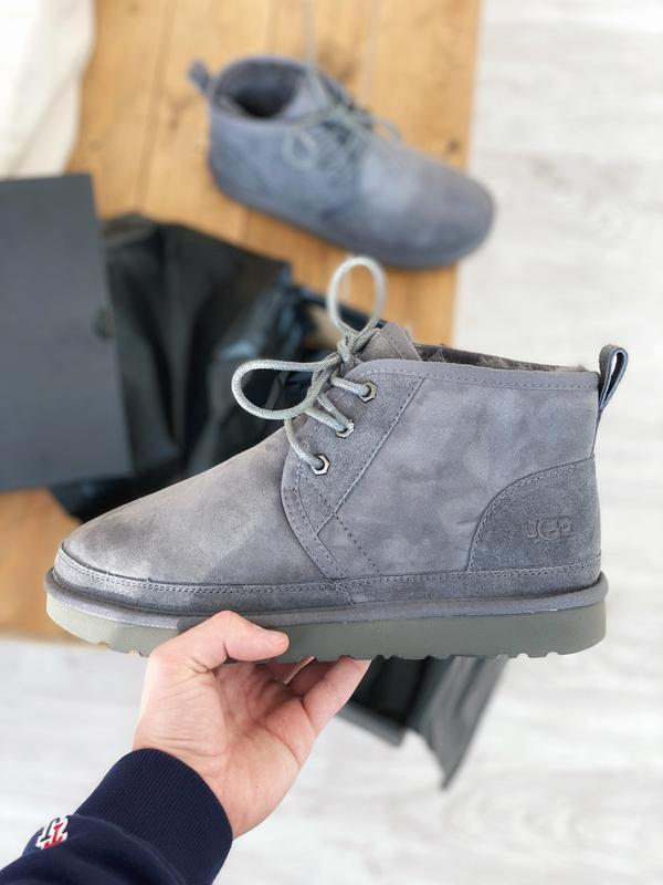 Ugg neumel gray! мужские замшевые зимние угги/ сапоги/ ботинки...
