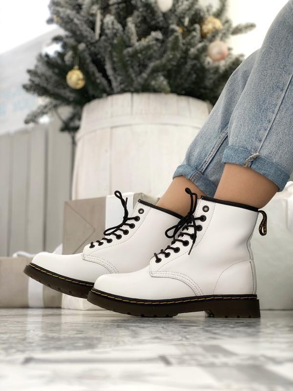Шикарные женские кожаные зимние ботинки/ сапоги dr. martens wh...
