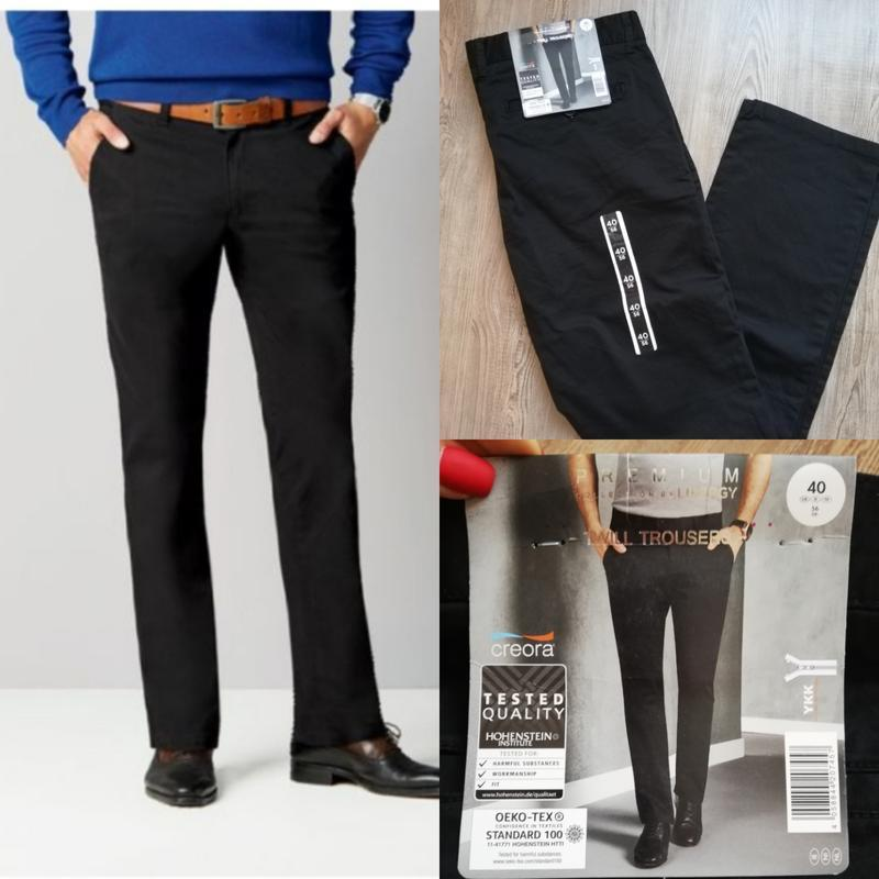 Класические чёрные штаны брюки livergy premium collection 56