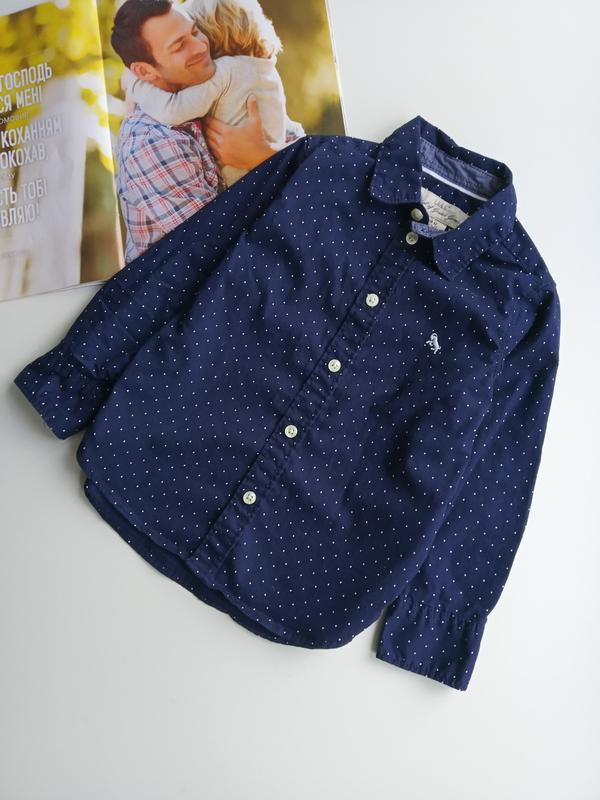 Котонова рубашка h&m👍👍👍1.5-2 р.