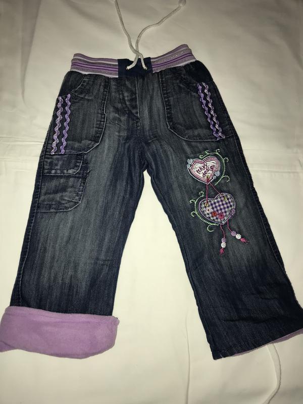 джинсы утепленные на девочку
