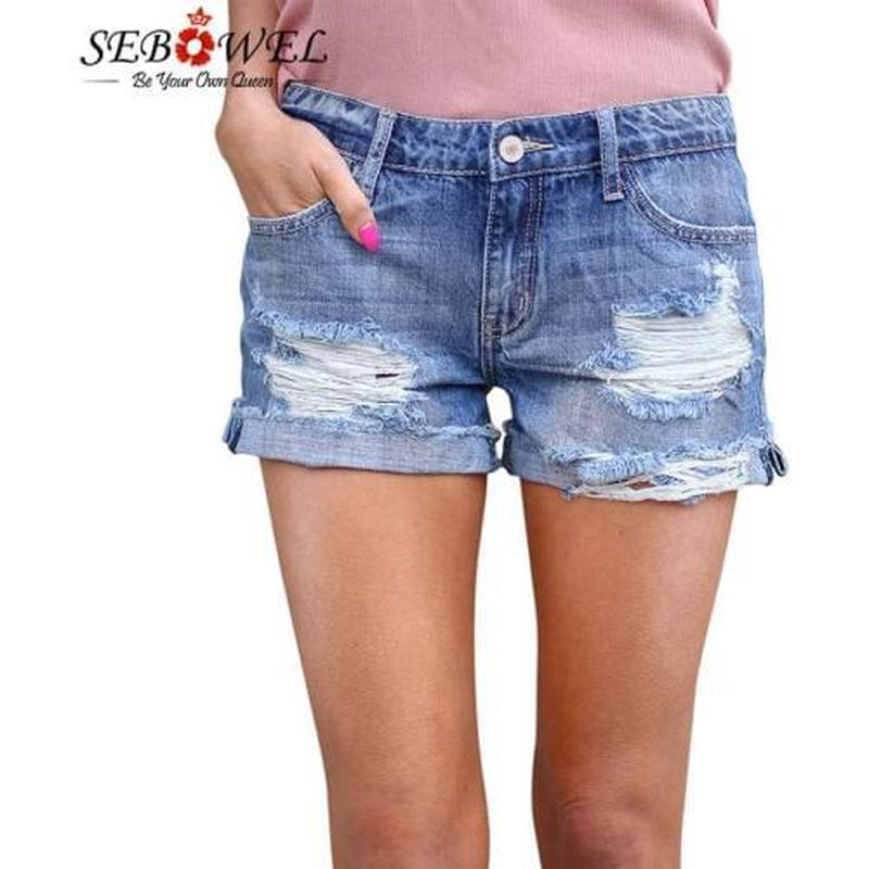 🔥🔥🔥стильные короткие женские рваные джинсовые шорты 🔥🔥🔥