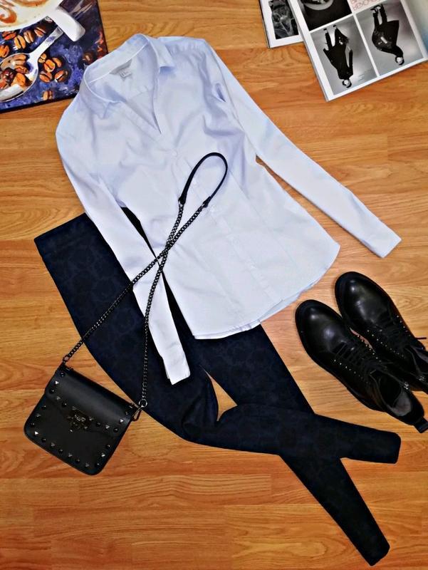 Женская идеальная офисная брендовая рубашка - сорочка h&m - ра...