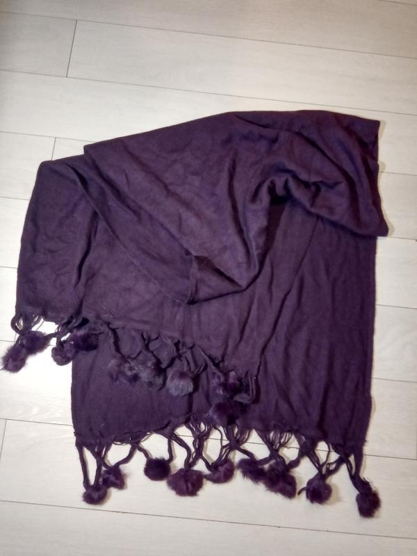 Тёплый большой шарф- палантин