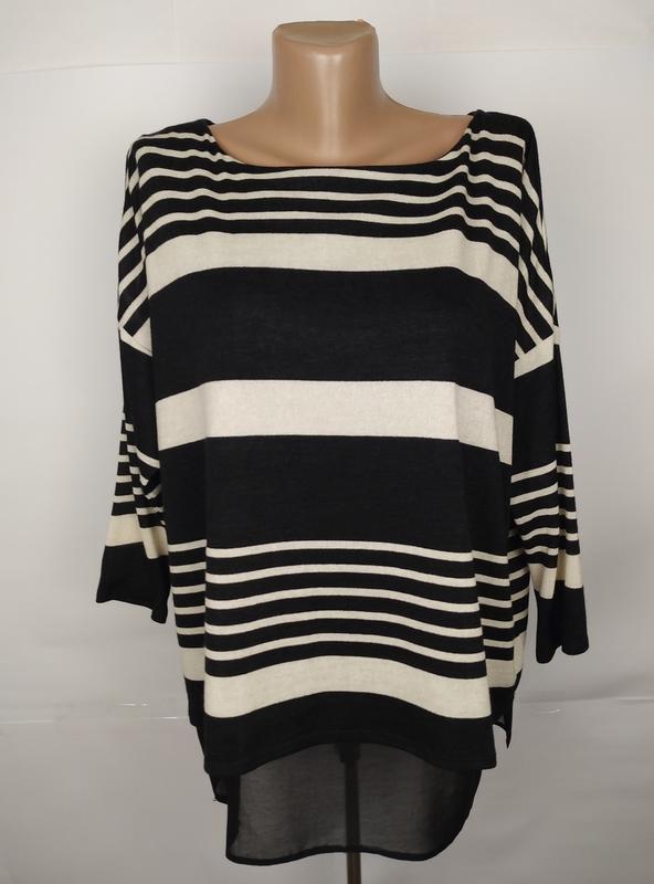 Блуза кофточка красивая в полоску двухслойная uk 14/42/l