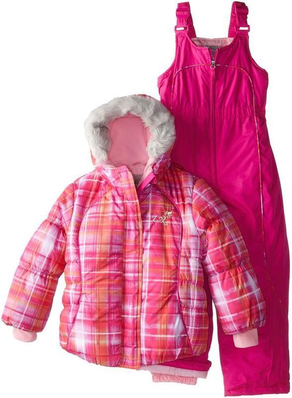 Зимний комбинезон америка (122-128)zeroxposur plaid jacket & b...