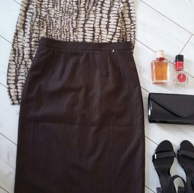 Лаконичная юбка миди карандаш из шерсти..# 274