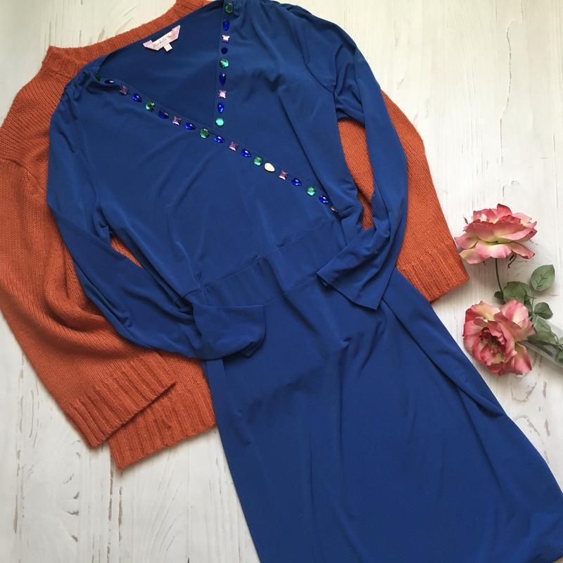 Синее платье-миди 3xl/4xl