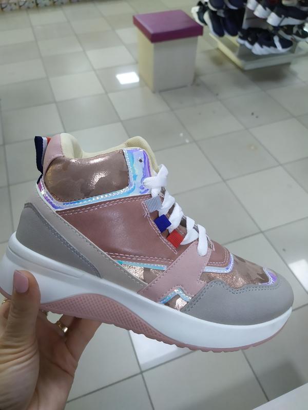 Женские деми кроссовки высокие