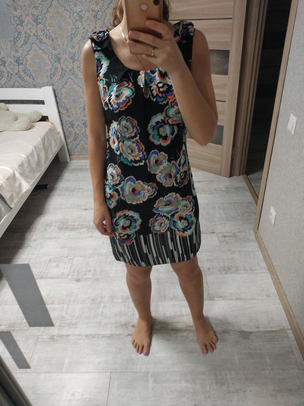 Легкое вискозное платье миди в цветы