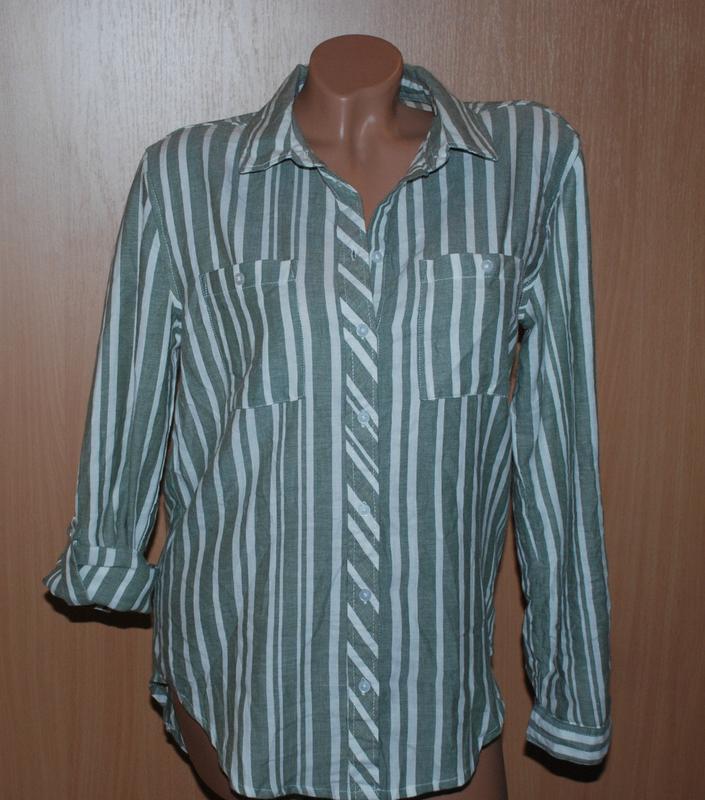 Рубашка бренда primark / 100%cotton/ регулируемый рукав/