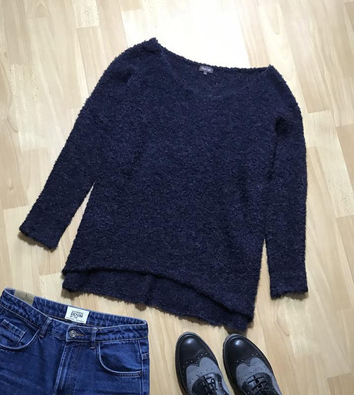 В наличии - теплый буклированный свитер с шерстью и альпакой *...