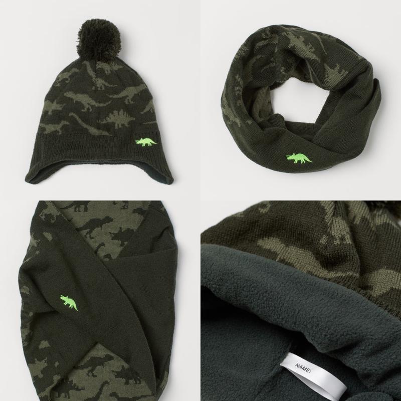 Комплект шапка и манишка от h&m зимний