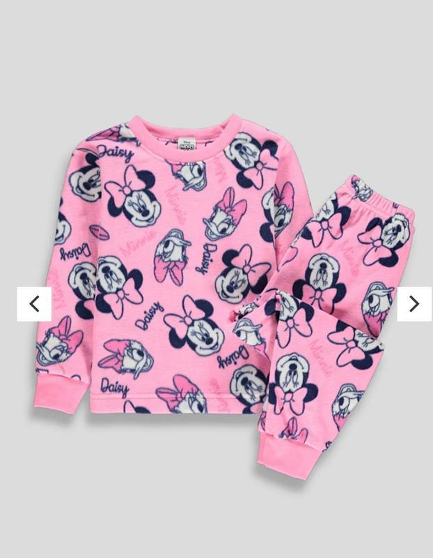 Детская пижама дисней мини маус, пижама флис, теплая.