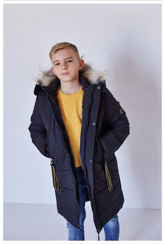 Теплейшая зимняя парка куртка для парня