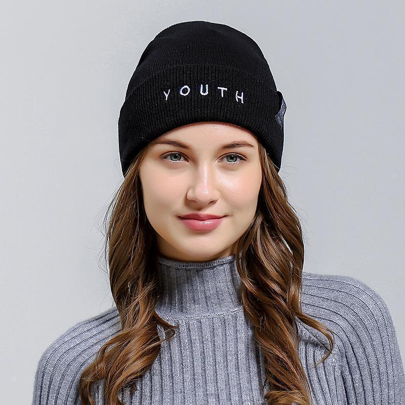 Крута шапка модная вязаная шапка youth