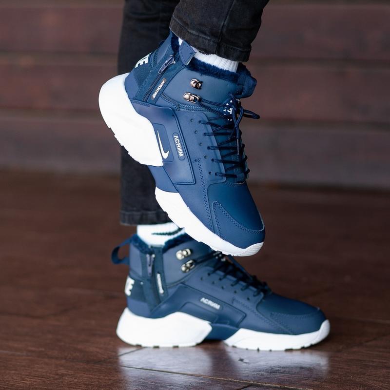 Мужские синие зимние кроссовки nіke air huarache acronym mex