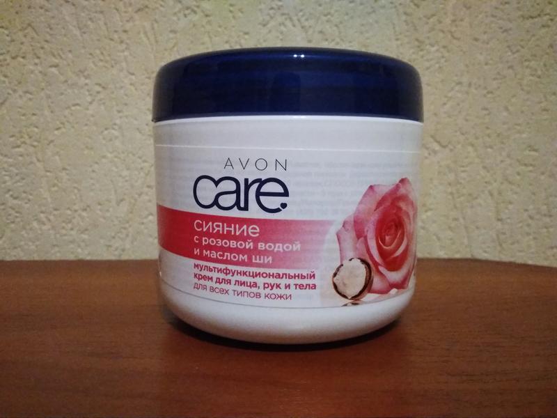 Мультифункциональный крем aon care с розовой водой и маслом ши...