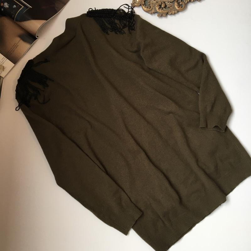 Шерстяная кофта кардиган sandro(кашемир в составе)