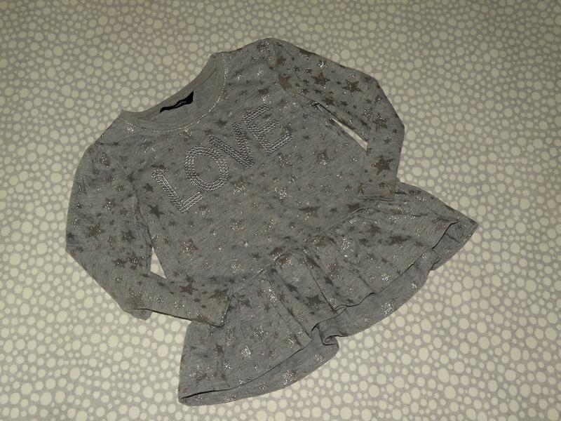 Платье-туника звёзды 2-3 года