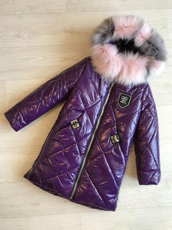 Яркое красивое пальто из плащевки монклер зима 2020