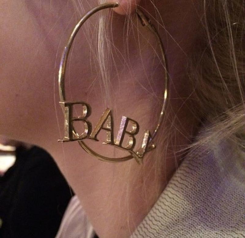 Очень крутые серьги кольца baby