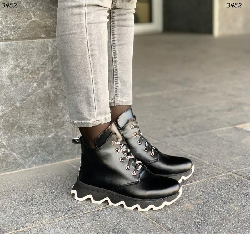Стильные ботиночки кожа
