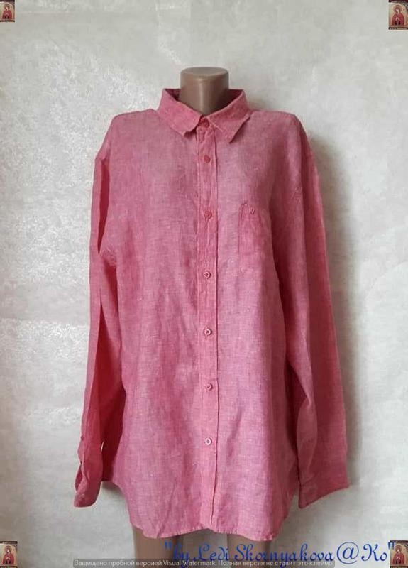Новая фирменная  блуза/рубашка со 100 % льна  в нежном розовом...