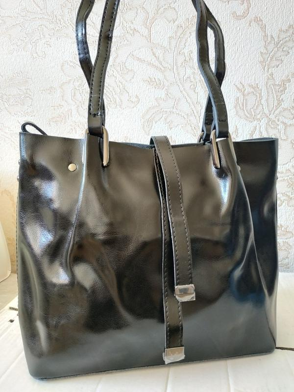 Кожаная женская элитная сумка 2019, черные сумки класса люкс, ...
