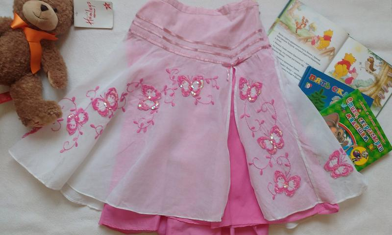 "Красивейшая юбка бренда премиум - класса ""monsoon"", 8-10 лет"
