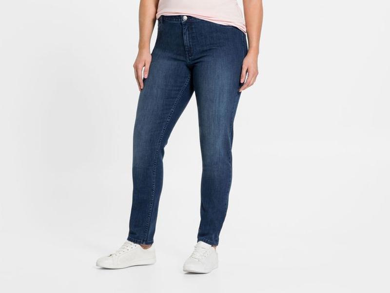 Шикарные джинсы slim fit esmara германия, р. 54 евро синие