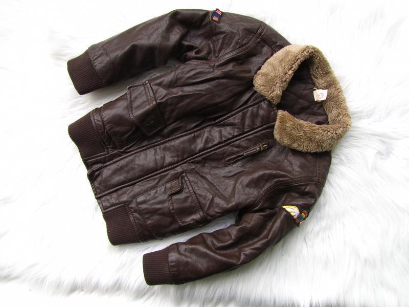 Стильная утепленная кожаная  куртка monsoon