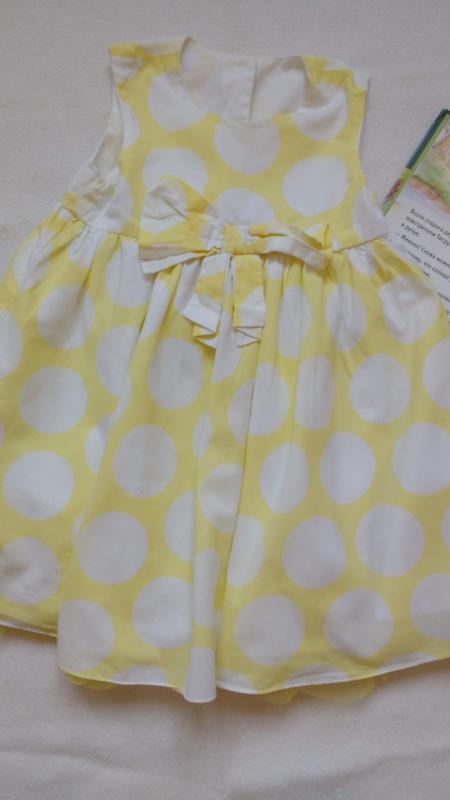"""Желтое нарядное платье в горох """"george"""", 12-18 месяцев, 81-86 см"""