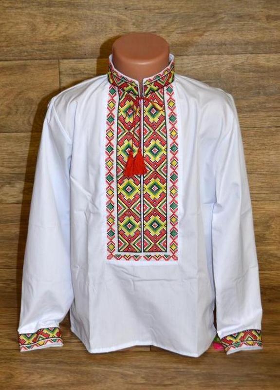 Вишиванка, вышиванка, рубашка-вышиванка для мальчика 8 лет
